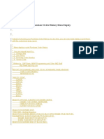 Purchase Order Mass History