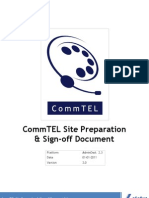 LAKSHYA CommTEL Site Preparation Document