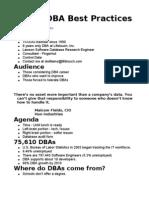 DBA Best Practices