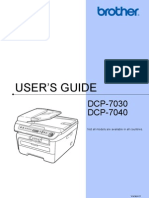 User Guide Dcp 7030 Dcp-7040