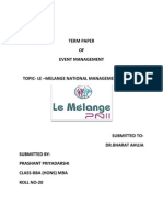 Term Paper of Event Management-prashant Priyadarshi Roll No-20
