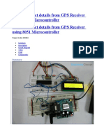 GPS Receiver Using 8051 Micro Controller