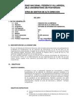 Jorge Mayhuasca - Silabo de Sistemas de ion Gerencial