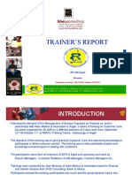 Customer Care Training Report