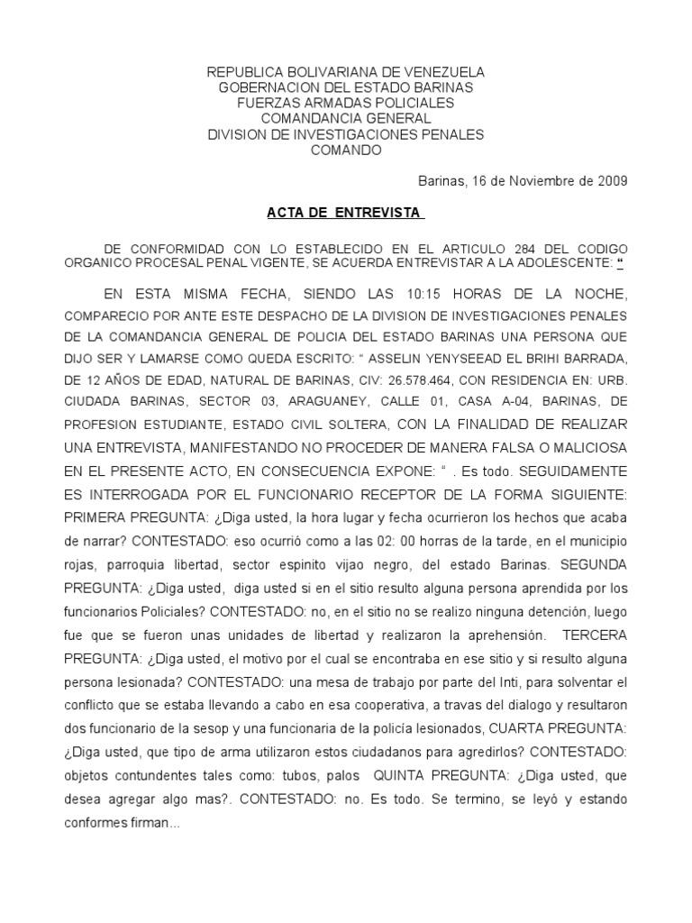 ACTAS DE DENUNCIA