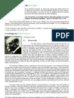 Concepção de Ciência e de Sociologia