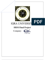HRM Final UBL Report