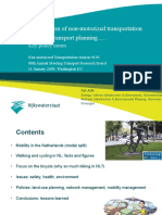 """Session 9- """"The position of nonmotorized transportation in Dutch multimodal planning – An examination of key policy issues"""" by Jos Arts"""