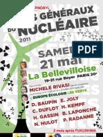 Programme des Etats généraux du nucléaire le 21 mai 2011