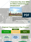 """Session 9- """"Regional Transportation Planning – How the San Francisco Bay Area MPO committed $1 Billion toward bike/ped projects – data needs and evaluation techniques in terms of Regional Plan Goals"""" by Sean Co"""