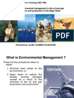 Environmental Management in the Oil and Gas Exploration and Production in the Niger Delta
