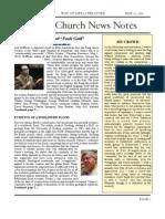 Friday Church News Notes 5132011