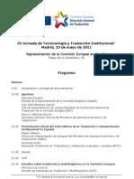 IV Jornada de Terminología y Traducción Institucional