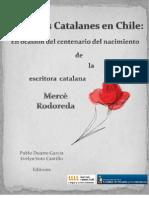 Estudios Catalanes en Chile, en ocasión del centenario del nacimiento de la escritora catalana Mercè Rodoreda