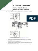 Subaru Trouble Code Info