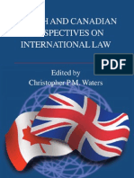 British and Canadian Perspectives on International Law