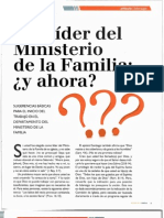 Sugerencias Para El Trabajo Del Depart Amen To Del Miisterio de La Familia