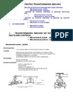 Mecanisme Pentru Transformarea Miscarii