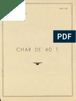 Notice Technique Du Char Lorraine de 40 Tonnes France 1952
