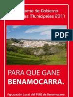 Programa de Gobierno 2011-2015