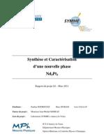 Synthèse et caractérisation d'une nouvelle phase Nd5Pt3[substitution,MEB,cristallographie,diffractionX,alliage ternaire,néodyme,platine,iridium]