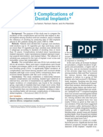 Smoking and Complications ofEndosseous Dental Implants