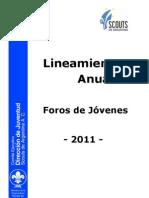 Lineamientos Foros de Jovenes 2011