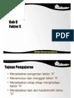 Spi396 Slide Bab 8 - Faktor x