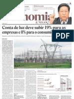 Energia deve subir 19% para empresas até 2015 - artigo 07-mar-2011