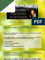 Portfolio Palestras Sustentabilidade Gestão da  Qualidade de Vida Deborah Munhoz