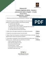 BC0032 Communication Skills in English-Assignment-Feb-11