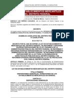Ley de Establecimientos Mercantiles Del DF