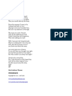 Away, a pro-life poem, written by Mark Anthony Thomas