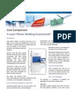 Cost Comparison - Laser Plastic Welding