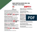 Programación Deportiva ESPN Deportes