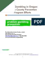 Youth Gambling in Oregon & Lane County Prevention Program Efforts