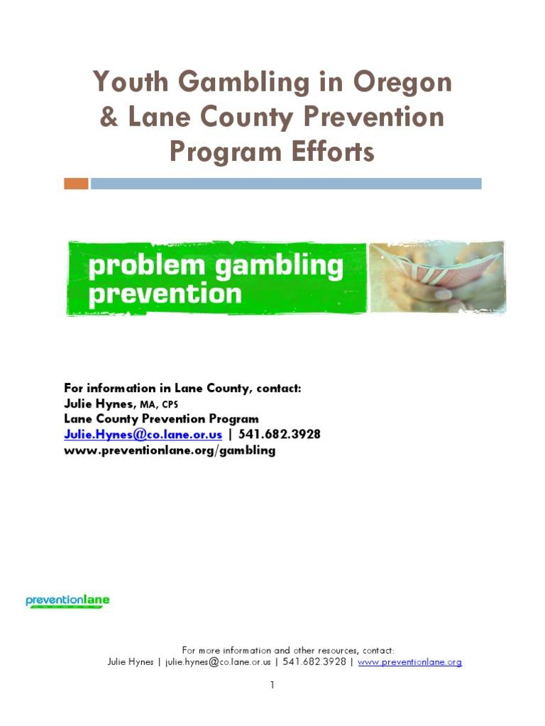 Youth gambling prevention programs 777 casino center drive hammond in