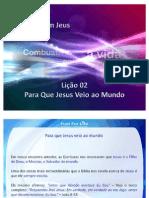 Licao2 Para Que Jesus Veio Ao Mundo