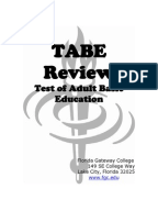 Page 1 of the Mathematics: Applied Study Guide for the TABE