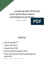 PPT Pengarusutamaan Gender (PUG) Dan Peran Perempuan