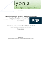 Lyonia-Estudio Fitoqu&Iacutemico de Especies Vegetales Nativas de La Provincia de Loja