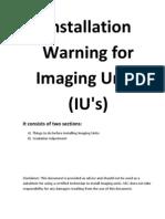 Imaging Unit IU-Installation