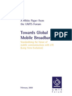 UMTS Forum Towards Global Mobile Broadband LTE White Paper
