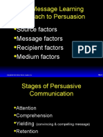 The Message Learning Approach to Persuasion