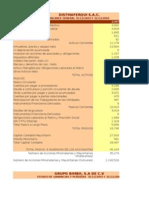 Financieros Grupo Bimbo Sa De Cv Deuda Compartir Finanzas