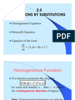 2.5 Solutions by Substitutions