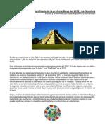 El Significado de La Profecia Maya Del 2012 - Jose Arguelles