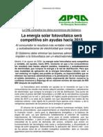 ASIF APPA La Fotovoltaica Competitiva Antes 2015
