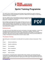 Planning a Sprint Training Programme