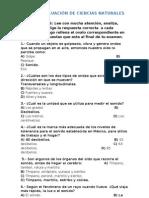 CUARTA EVALUACIÓN DE CIENCIAS NATURALES 5